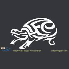 Tribal Turtle Vinyl Car Window Decal Sticker Reptile Decals Stickers
