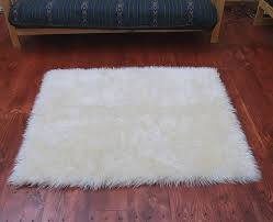 faux fur area rug ivory large and 13