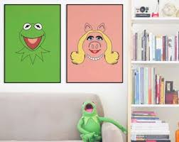 Kermit Poster The Muppets Kids Room Playroon Decor Etsy