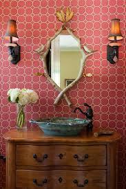 diy antique mirror powder room