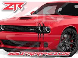 Dodge Challenger Headlight Claw Scratch Mark Decal Graphic Sticker Ztr Graphicz