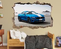 Ford Mustang Decal Ford Mustang Vinyl Sticker Ford Wall Decal Etsy Kids Room Decals Decorate Your Room Wall Decals