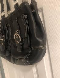 large purse black leather hobo bag