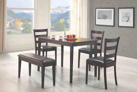 5 Pcs Dining Set Table 3 Chairs And Bench Dc Furniture