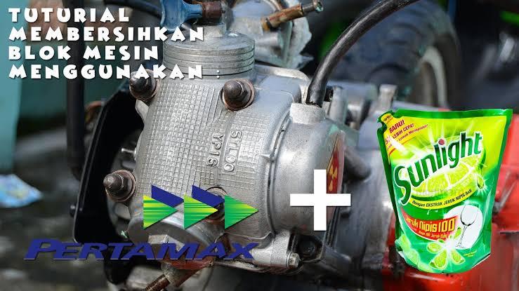 "Hasil gambar untuk cara membersihkan blok mesin motor"""