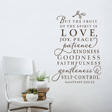 The Fruit Of The Spirit Wall Decal Christian Wall Decal Etsy
