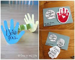 day handprint craft card ideas