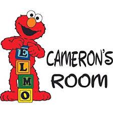 Amazon Com Elmo Play Blocks Cartoon Sesame Street Customized Wall Decal Custom Vinyl Wall Art Personalized Name Baby Girls Boys Kids Bedroom Wall Decal Room Decor Wall Stickers Decoration Size