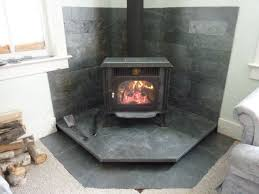 idea for floating wood stove hearth