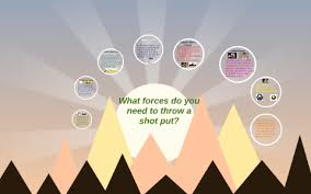What forces do you need to throw a shot put? by adriana robinson
