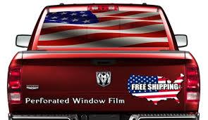 American Flag Car Window Wrap Decal Flag Truck Back Window Etsy