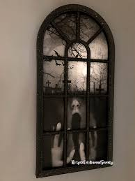 diy creepy gothic arch windows the
