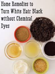 home remes to turn white hair black