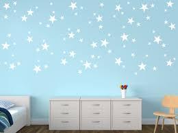 87 Mixed Size White Stars Wall Art Stickers Decals Confetti Stars Ramutes On Artfire