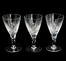vintage set of 3 stuart cut crystal