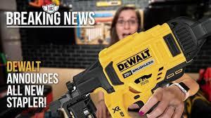 Breaking News Dewalt Announces A New 20v Max Stapler Youtube