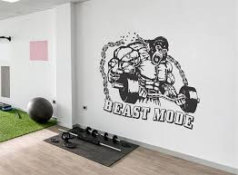 Motivational Wall Decals For Gym Fitness Wall Decal Decor Etsy Gym Wall Decal Wall Decals Wall Decor Bedroom