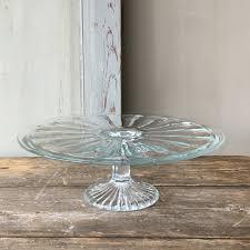 ov20160573 old glass belgian cake plate