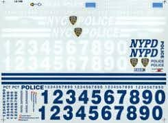 Nypd Police Decals Cvh3018 B Chimneyville Plastic Model Parts Acc Vehicle Decal Graphic For Cvh3018 B