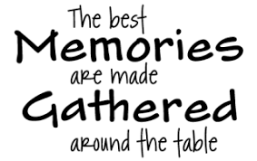 memories are made around the table wall quotes decal com