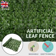 0 5 1x1m Artificial Hedge Roll Screening Ivy Leaf Garden Fence Privacy Screen Shopee Singapore