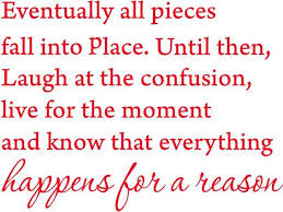 Red 27 X 23 Eventually All Pieces Fall Into Place Inspirational Quotes And Saying Vinyl Wall Art Home Decor Decal Sticker Newegg Com