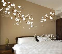 Cherry Blossom Wall Decals Nursery White Flower Vinyl Wall Decal Tree Nature Wall Sticker Children Decals Nursery Wall Mural Z163 Cuma Vinyl Tree Wall Decal Cherry Blossom Wall Art Nursery Wall
