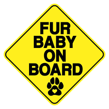 Fur Baby On Board Vinyl Decal Paw Choice