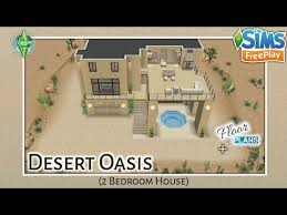 the sims freeplay desert oasis house