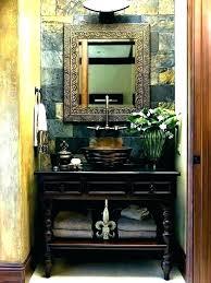 small bathroom vanity with vessel sink