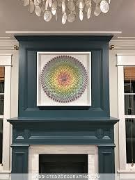 diy shadow box frame for large artwork