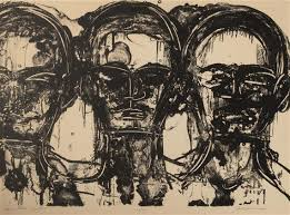 Johnson Lester | Three Heads Frontal (1963) | MutualArt