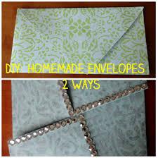 diy homemade envelopes 2 ways the