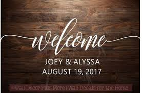 Welcome Personalized Wedding Vinyl Lettering Stickers Wall Decals For Home Decor Gift