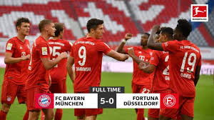 Bayern Munchen vs Dusseldorf 5-0 Highlights 2020 - YouTube