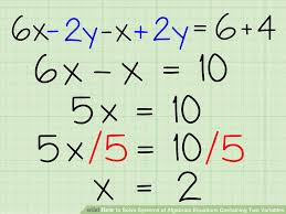 how do you solve an equation with two