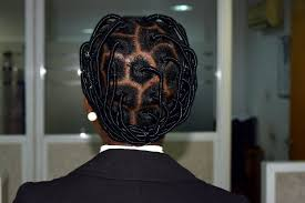 another african threading hairstyle