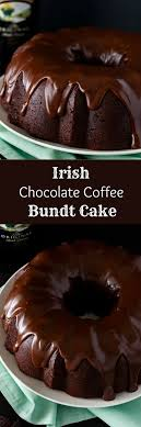 irish chocolate coffee bundt cake chocolate day happyshappy