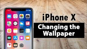 iphone x how to change the wallpaper
