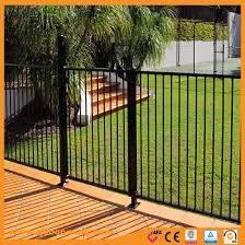 China Customized Wrought Aluminum Pool Fence Panels China Powder Coated Metal Fence Powder Coated Fence