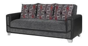 mondo modern gray convertible sofa bed