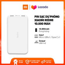 MUA 2 GIẢM 20K - FREESHIP] Sạc dự phòng Xiaomi Redmi 10.000mAh l Input:  Micro USB, Type-C / Output: USB-A x2 l HÀNG CHÍNH HÃNG