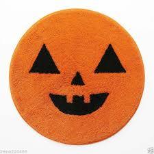 pumpkin shaped bath rug 25x27