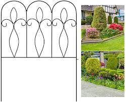 Amazon Com Xcsource 5pcs Decorative Garden Fence 32in X 10 Ft Outdoor Coated Metal Folding Garden Fencing Garden Border Edging Fence Set Wire Folding Fencing For Landscaping Garden Fence Animal Barrier Black