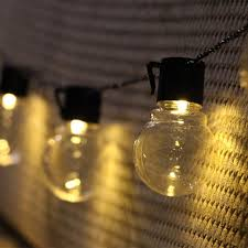 g40 globe ball string lights 20 clear