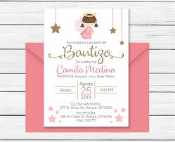 Baptism Invitation In Spanish Printable Girl Invitacion Bautismo