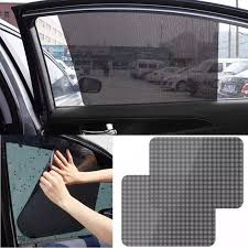 2pcs Car Rear Window Side Sun Shade Cover Block Static Cling Visor Shield Screen Sticker Car Sun Shades Film Protection Window Side Window Aliexpress