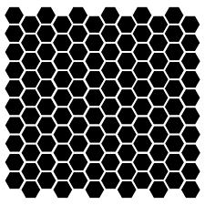 Hexagons 120 1 Vinyl Decal Stickers Hexagon Polygon 6 Decor Accent Minglewood Trading