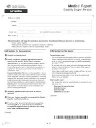 Disability Support Pension Form Sa012 ...