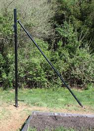 Buy End Post With Brace For 7 Tall Deer Fencing